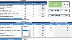 Rutgers Gpa Calculator Excel Gpa Calculator Excel Template Free College Gpa