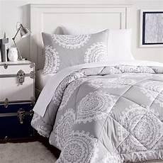 medallion florette value comforter set light gray