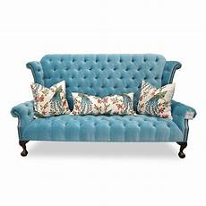 Blue Velvet Tufted Sofa 3d Image by 20 Collection Of Blue Velvet Tufted Sofas Sofa Ideas