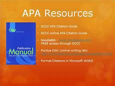 Apa Formatting For Powerpoint Apa Powerpoint Lis 590 Directed Fieldwork