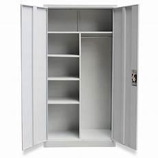 metal locker style cabinet 2 doors grey vidaxl au