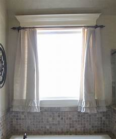 small bathroom window curtain ideas diy ruffle drop cloth curtains shanty 2 chic