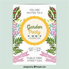 Garden Party Invites Garden Party Invitation Template Vector Free Download