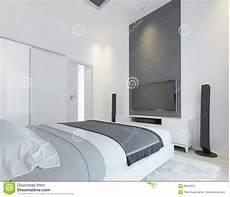 tele per da letto tv console with speakers in the modern bedroom stock