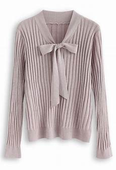 Medi Harmony Sleeve Size Chart Bowknot V Neck Shimmery Knit Top In Lilac In 2020 Knit