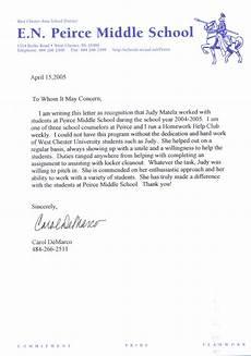 Teacher Recommendation Letter For Student Sample Of A Letter Of Recommendation For A Student Teacher
