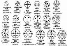 Circular Connector Shell Size Chart All Insert Arrangements Show Engaging View Of Pin Insert