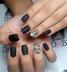 Black Nail Design Ideas 29 Black Acrylic Nail Art Designs Ideas Design Trends