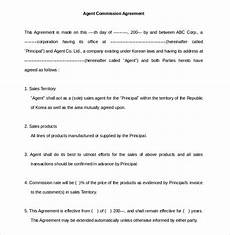Commission Agreement 22 Commission Agreement Templates Word Pdf Pages