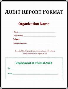 Annual Audit Report Format Audit Report Template Free Word Templates