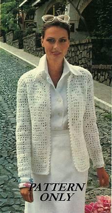 instant crochet pattern s jacket filet