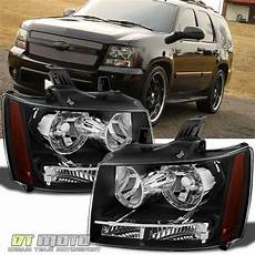 Aftermarket Headlights And Lights For Trucks Black 2007 2014 Chevy Suburban Tahoe Avalanche Headlights