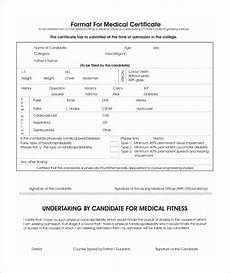Medical Certificate For College Admission 43 Medical Certificate Templates Pdf Docs Word Free