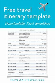 Itinerary Template Pages Itinerary Template When You Arrive On Their Primary Page