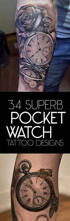 Pocket Watch Sleeve Designs 34 Superb Pocket Watch Designs Tattooblend