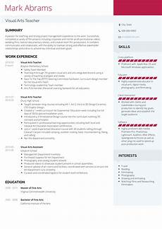 Art Resume Sample Art Teacher Resume Samples And Templates Visualcv