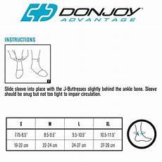 Elastic Size Chart Donjoy Advantage Deluxe Elastic Ankle Sleeve