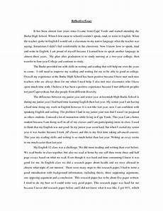 Personal Reflection Essay Example Personal Reflection Sample