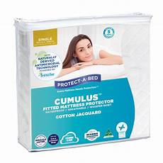 cumulus fitted waterproof mattress protector protect a bed