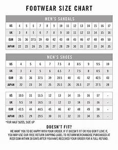 Reef Size Chart Reef Size Guide