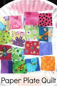 paper plate quilt craft happy hooligans