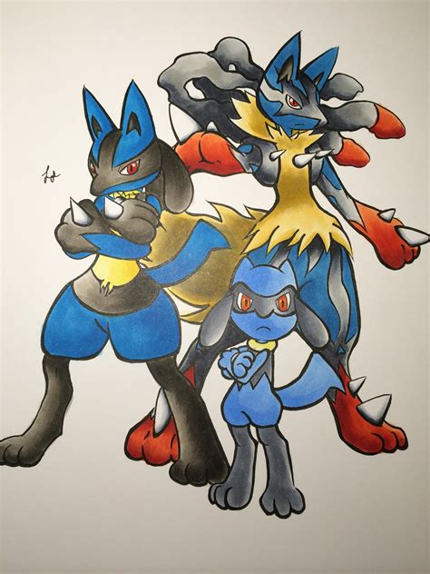 Shiny Lucario And Riolu