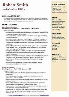 Resume Content Tips Great Editor Cv Template Picture