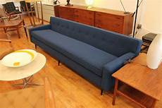 Blue Mid Century Modern Sofa 3d Image by Mid Century Modern Blue Sofa An Orange Moon Mid