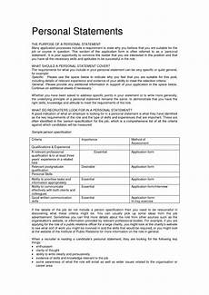 Writing A Personal Statement For A Cv This Is Appropriate Resume Personal Statement Examples