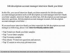 Account Manager Job Description Sample Job Description Account Manager