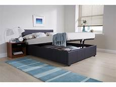venice black faux leather gas end lift ottoman bed 4ft 6