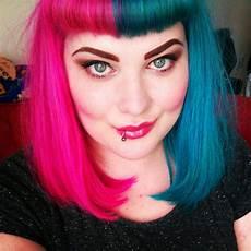 Half Pink Half Blue Good Morning Angel Hair Inspiration Cruella Deville