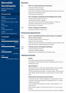 Sample Of A Cv Academic Cv Template Examples And 25 Writing Tips