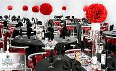 red black and white wedding decorations