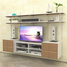 wall mounted media center with open box cabinet modern