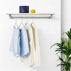 wall clothes rack boo wall mounted clothes rail with shelf rackbuddy marlow silver