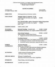 Resume For Teacher Assistant Free 8 Sample Teacher Assistant Resume Templates In Ms