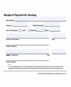 Receipt Of Rent Payment Template 9 Lease Receipt Templates Free Sample Example Format