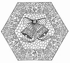 jingle bells mandala coloring page favecrafts