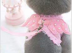 Best Wings With Pearls Dog Harness Leash Vest Pet Clothes