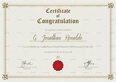 Certificate Format Template General Format Congratulations Certificate Design Template