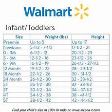 Walmart Clothing Size Chart Walmart Size Chart Baby Clothes Size Chart Baby Clothing