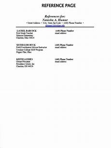 How To Make A Reference Page Resume Reference Page Ipasphoto