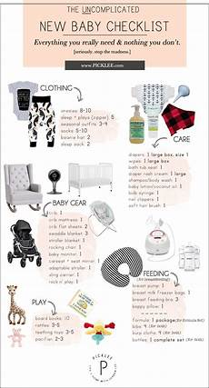Baby Stuff Checklist The Uncomplicated Minimal New Baby Checklist For New