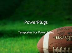 Football Powerpoint Template Powerpoint Template Football On Grass Athletes Playing