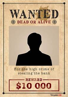 Free Printable Poster Templates 29 Free Wanted Poster Templates Fbi And Old West