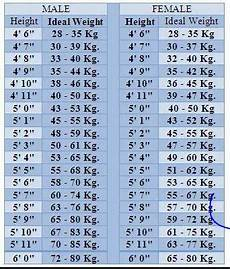 Age And Weight Chart For In Kg What Is The Standard Weight For 5 3 Height Person Quora