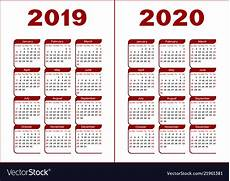 images for calendar 2020 calendar 2019 2020 royalty free vector image vectorstock