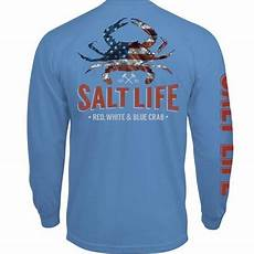 Crab T Shirt Designs Salt Life American Crab Long Sleeve T Shirts Tackledirect