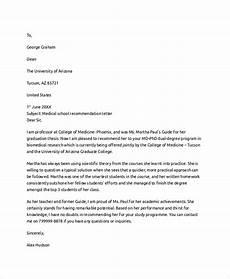 Sample Medical School Recommendation Letter Letter Of Recommendation Example 8 Samples In Pdf Word